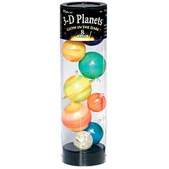 3-D Planets in a Tube (9 planets) - Glow in the Dark by University Games