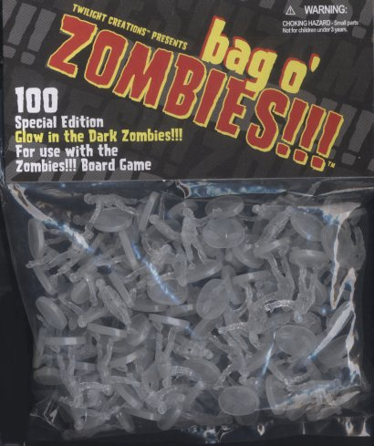 Zombies!!! Bag O' Zombies - Glow in the Dark by Twilight Creations, Inc.