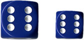 Dice - Opaque: 12mm D6 Blue with White (Set of 36) by Chessex Manufacturing