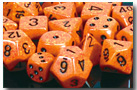 Dice - Speckled: Poly Set - Fire (Set of 7) by Chessex Manufacturing