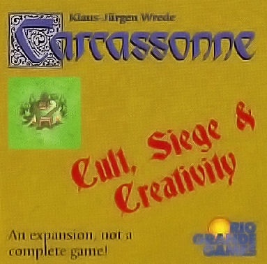 Carcassonne: Cult, Siege, & Creativity Expansion by Rio Grande Games
