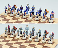 Chess Set (Civil War Theme) by Fame (U.S.A.) Products, Inc.