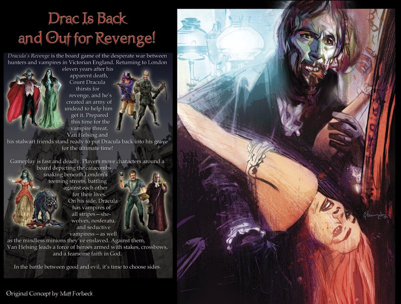 Dracula's Revenge Boardgame by Green Ronin Publishing