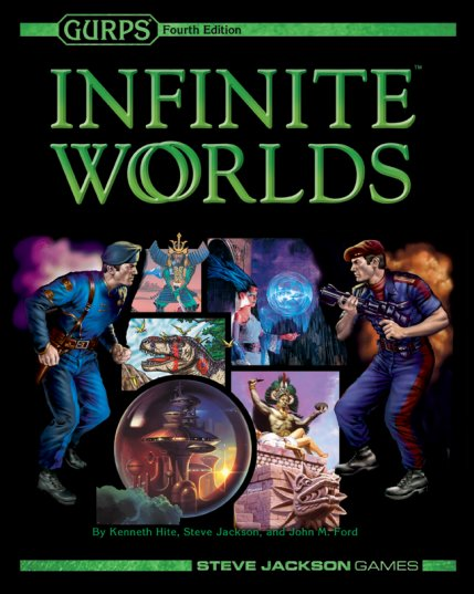 GURPS Infinite Worlds Hard Cover 4th Edition by Steve Jackson Games