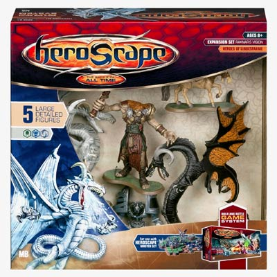 Heroscape - Large Figure Expansion Set - Raknar's Vision-Dragons & Warriors-Heroes Of Lindesfarme by Hasbro