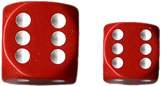 Dice - Opaque: 12mm D6 Red with White (Set of 36) by Chessex Manufacturing