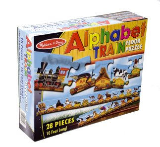 Alphabet Train Floor Puzzle by Melissa and Doug
