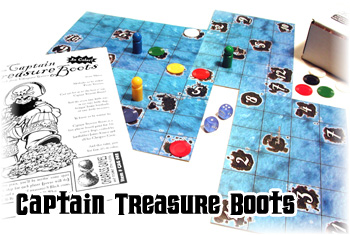 Captain Treasure Boots by Cheapass Games