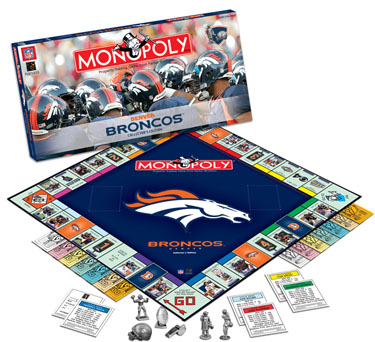 Denver Broncos Monopoly by USAopoly