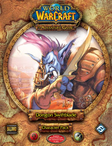 World Of Warcraft Adventure Game: Dongon Swiftblade Character Pack by Fantasy Flight Games