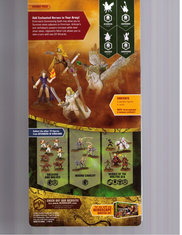 Heroscape expansion : Elves (part of collection 8, Defenders of Kinsland) by Wizards of the Coast / Hasbro