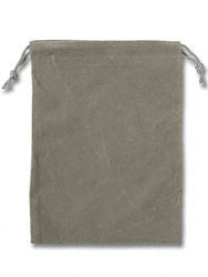 "Velour Bag - Gray (approx 4"" wide x 5-1/2"" long) by"