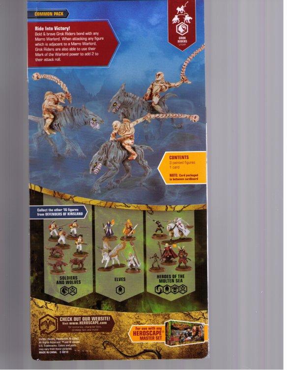 Heroscape expansion : Marro Cavalry (part of collection 8, Defenders of Kinsland) by Wizards of the Coast / Hasbro