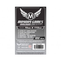 70 MM X 110 MM Sleeves (for Lost Cities and more) - 100 per pack by Mayday Games
