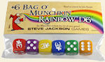 Plus 6 / D6 Bag o' Munchkin Rainbow Dice by Steve Jackson Games