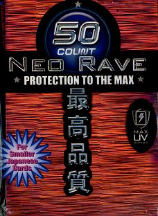 Card Sleeves - Mini - Neo Rave - Red (50) by Max Protection