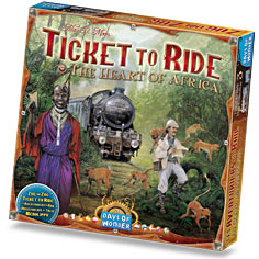 Ticket to Ride Map Collection Volume 3 The Heart of Africa by Days of Wonder