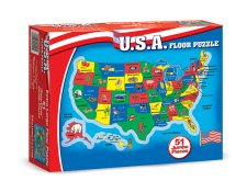 USA Map 51 pc Floor Puzzle by Melissa and Doug