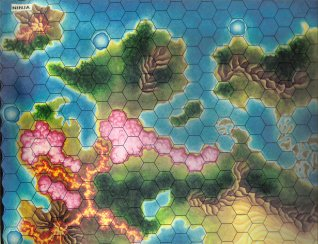 Warangel Accessory - Hexed Map of 1st Generation - Ninja (Japan) by Angelo Porazzi Games