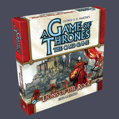 A Game of Thrones LCG: Lions of the Rock Expansion by Fantasy Flight Games